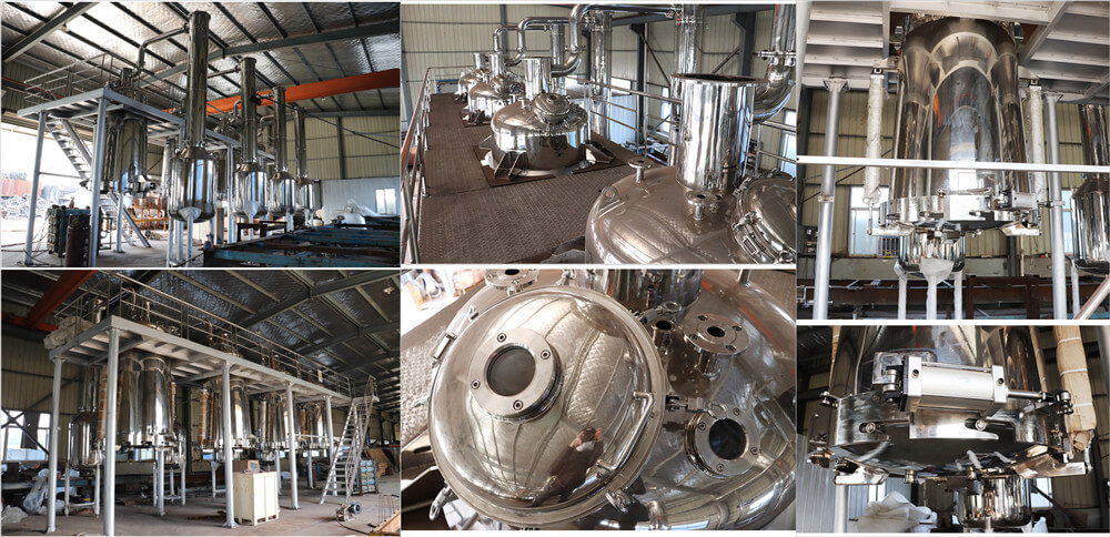 3000L essential oil distilling machine detailed features