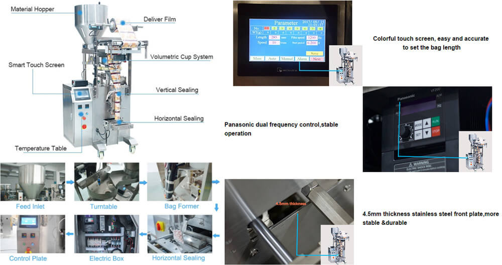 Advantages of AMS-DXDK-100H Fully Automatic Granule Packaging Machine