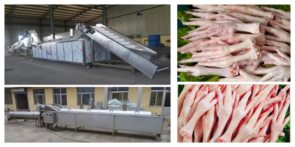 Chicken Feet Peeling Production Line