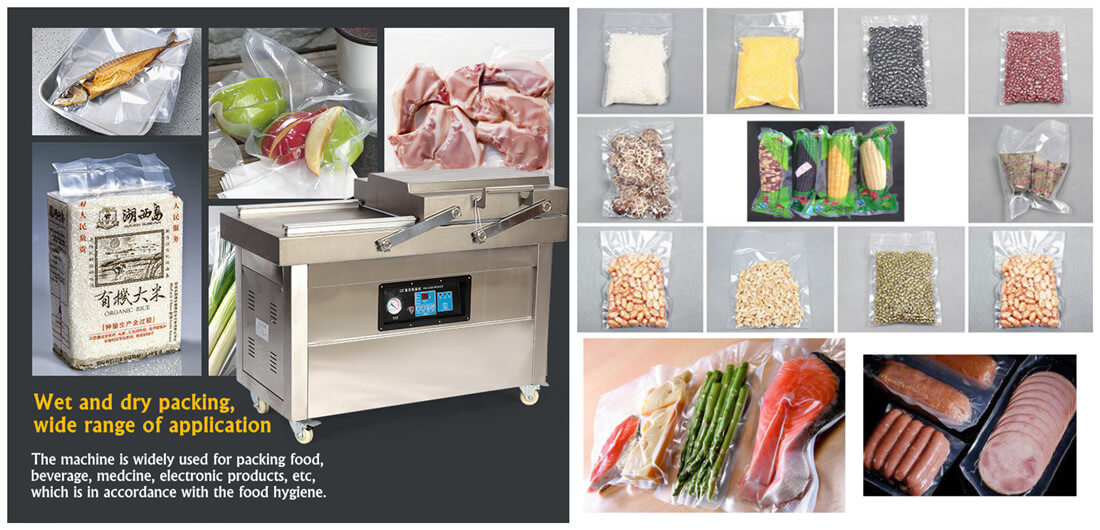 Double Chamber Vacuum Packing Machine Application