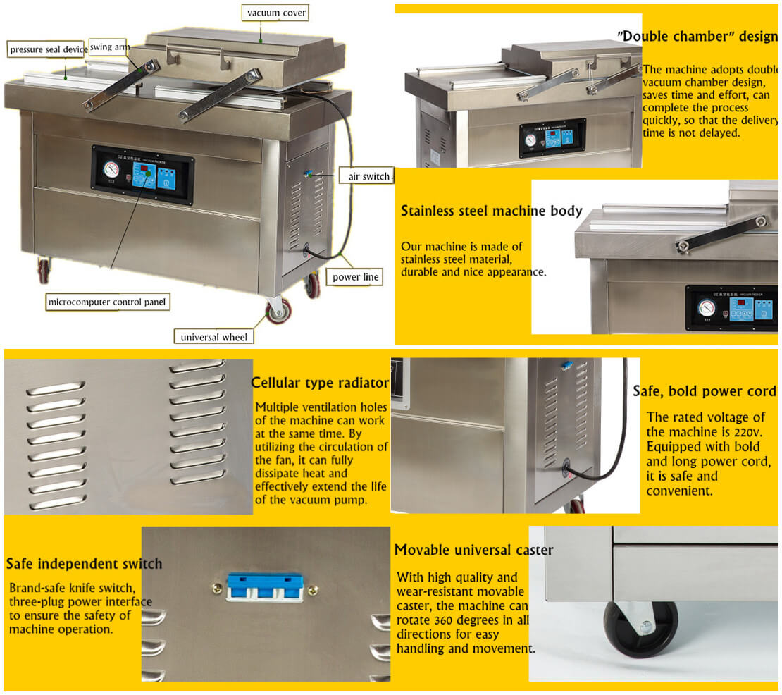 Double Chamber Vacuum Packing Machine Features