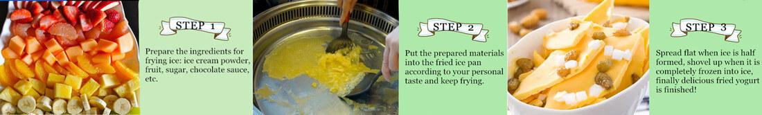frying ice methods