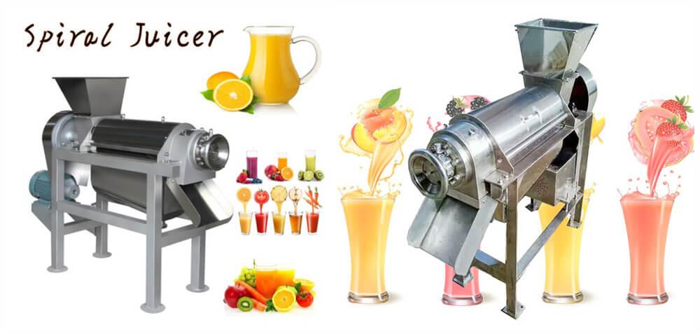 Fruit juice screw extractor