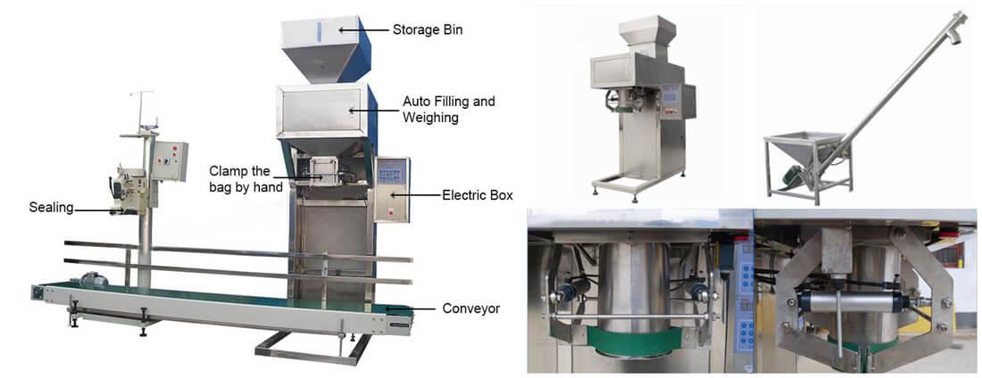 Main Machines in the Granule Food Bagging Units
