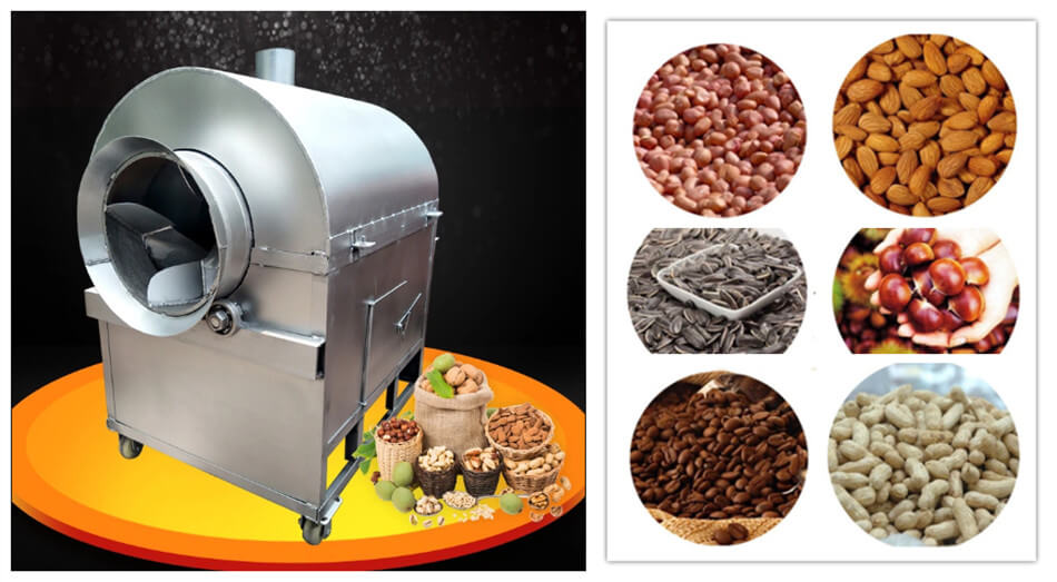 Small Scale Stainless Steel Peanut Roasting Machine
