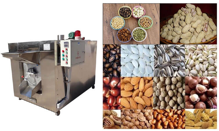 Stainless steel nut roasting machine