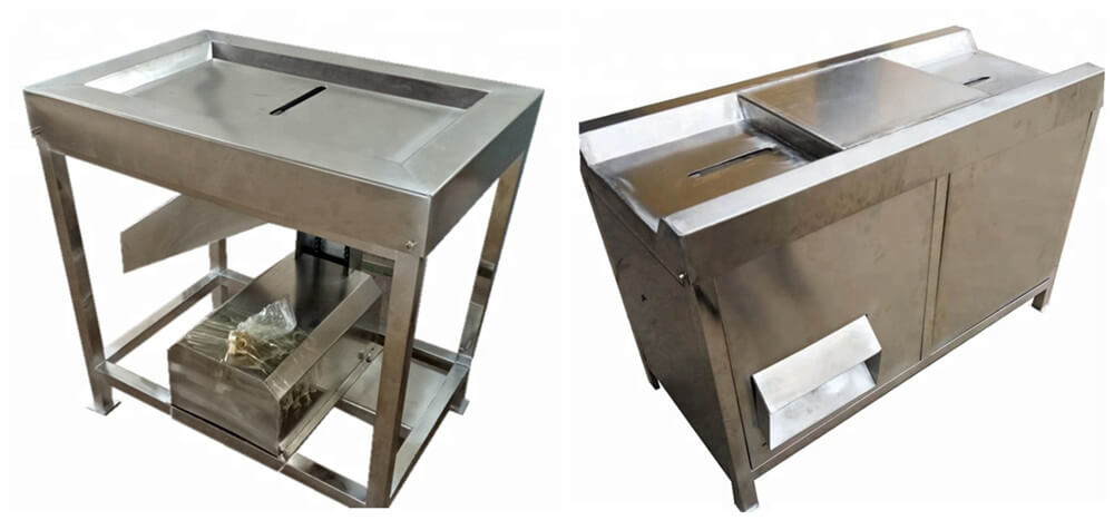 Stainless steel poultry gizzards peeling machine