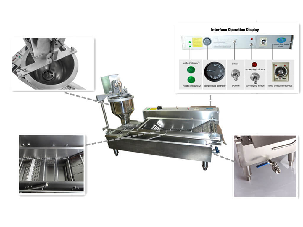 automatic donut making machine features