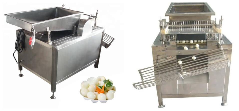 boiled quail eggs shell removing machine