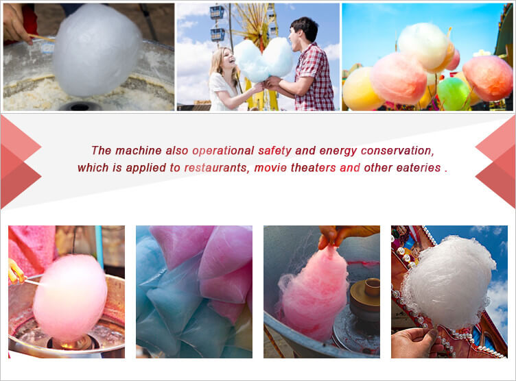 candy floss machine applications