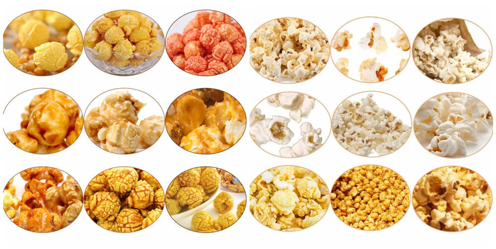caramel popcorn making machine applications