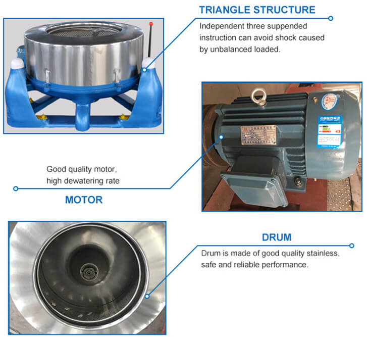 centrifugal vegetable dewater machine features