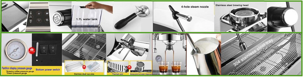 commercial coffee machine structures