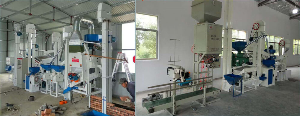 complete set combined rice milling machine