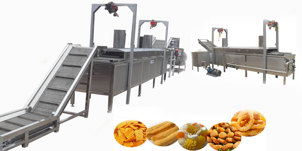 continous belt fryer machine