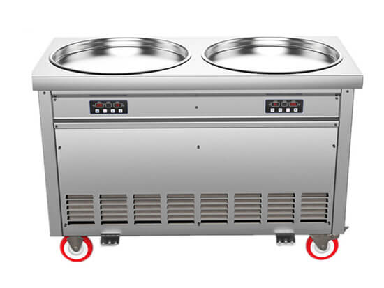 double pan fired ice machine