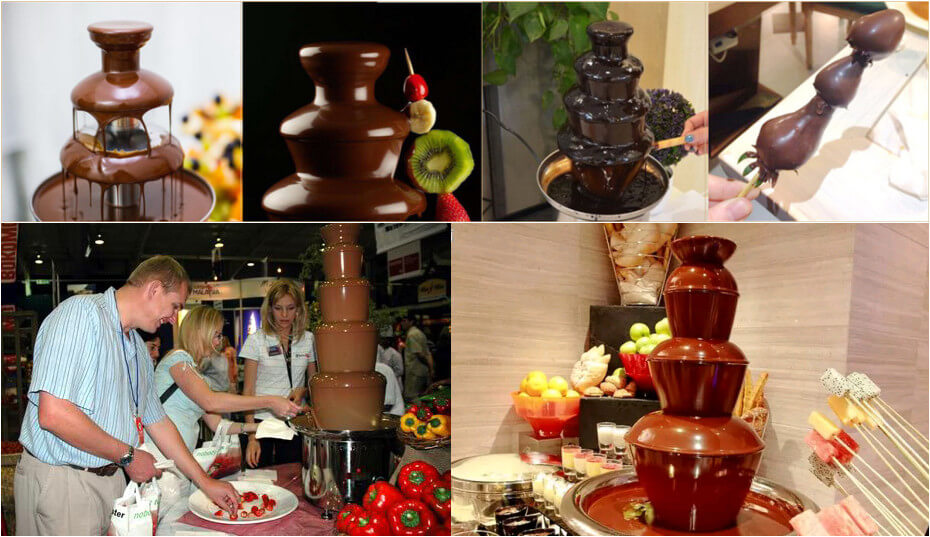 electric chocolate fountain machine application