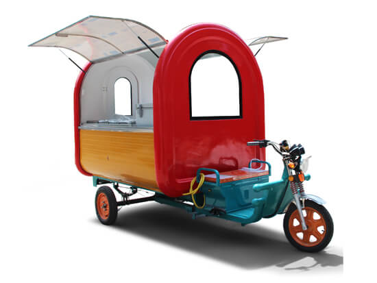 electric fast food cart tricycle for sale