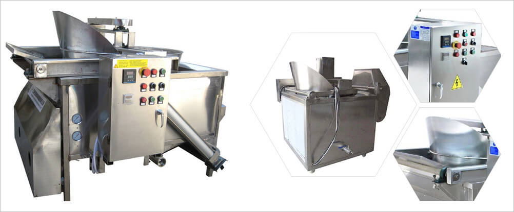 electric gas frying machine