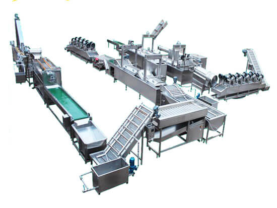 frozen french fries potato production line plant
