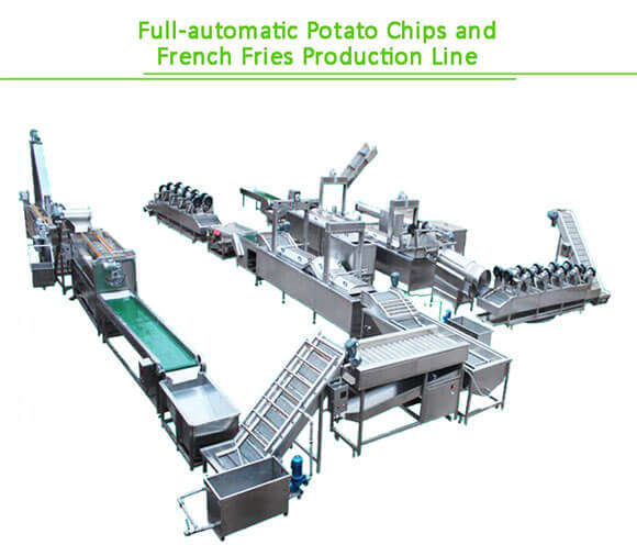 full automatic french fries processing line