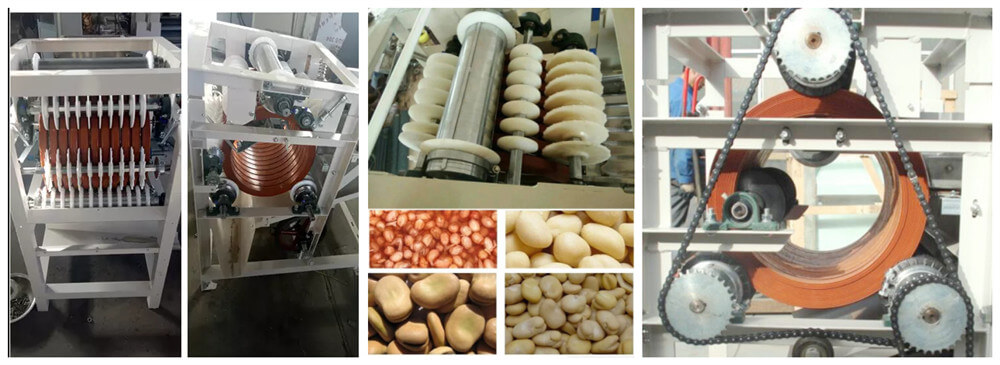 how broad beans can be cut by the slitting machine