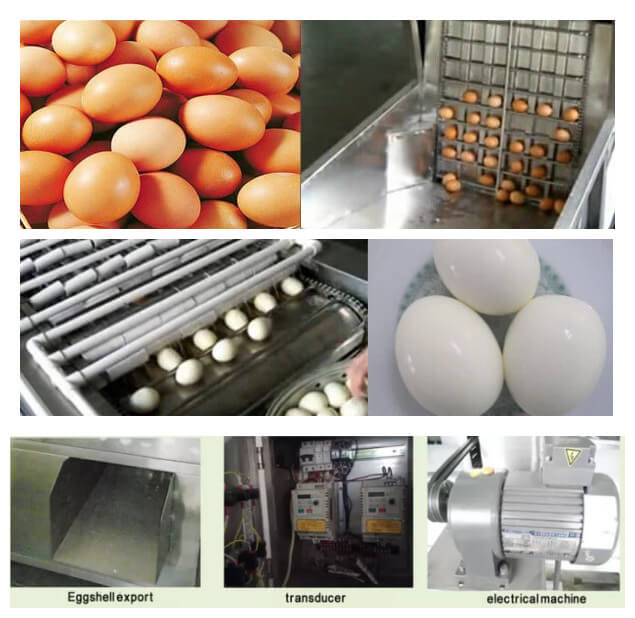 how does chicken egg peeling machine work and its detals part
