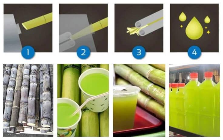 how to extract fresh sugarcane juice