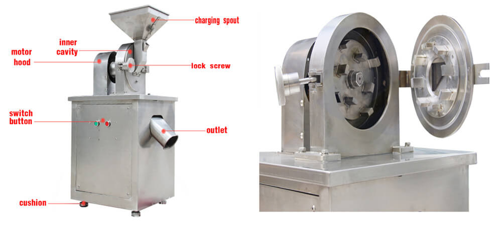 industrial hammer corn mill grain grinding machine