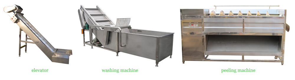 main machine part of the vegetable washing peeling unit