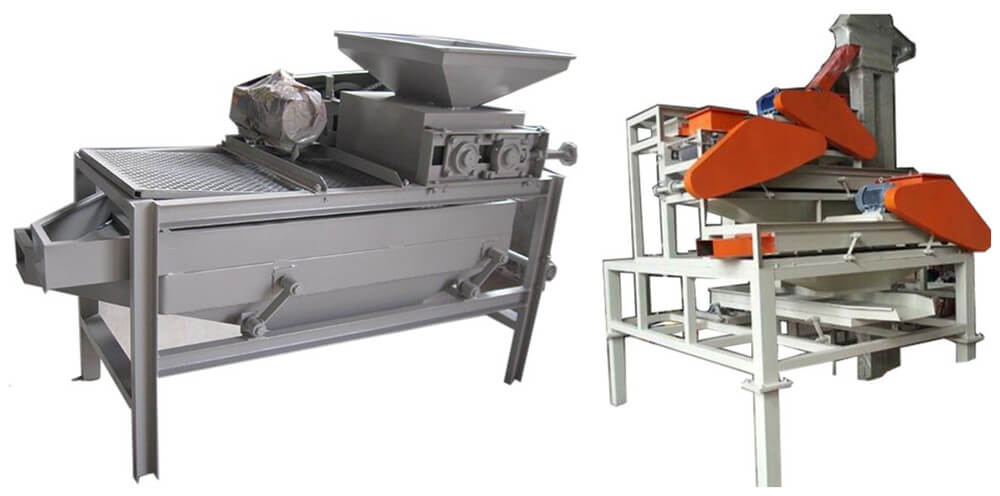 nut cracking shelling machine