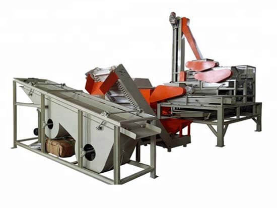 nut shelling separating line