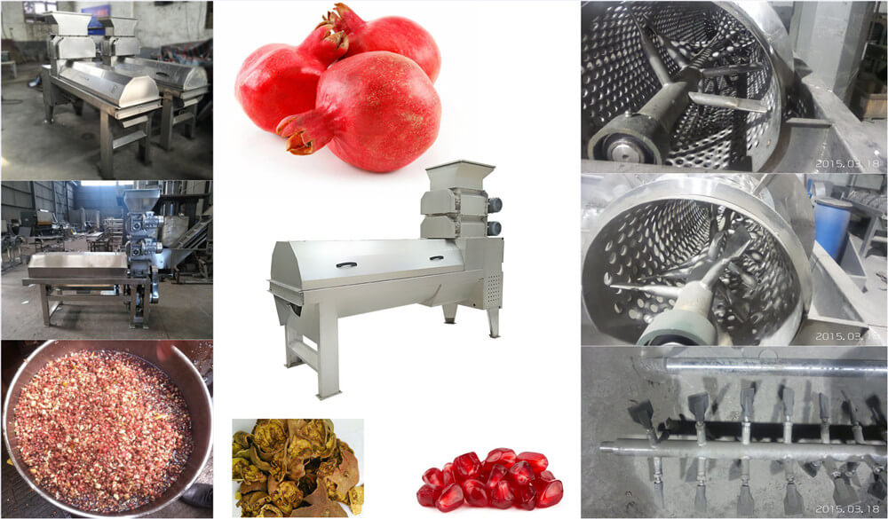 pomegranate seed separating machine part details