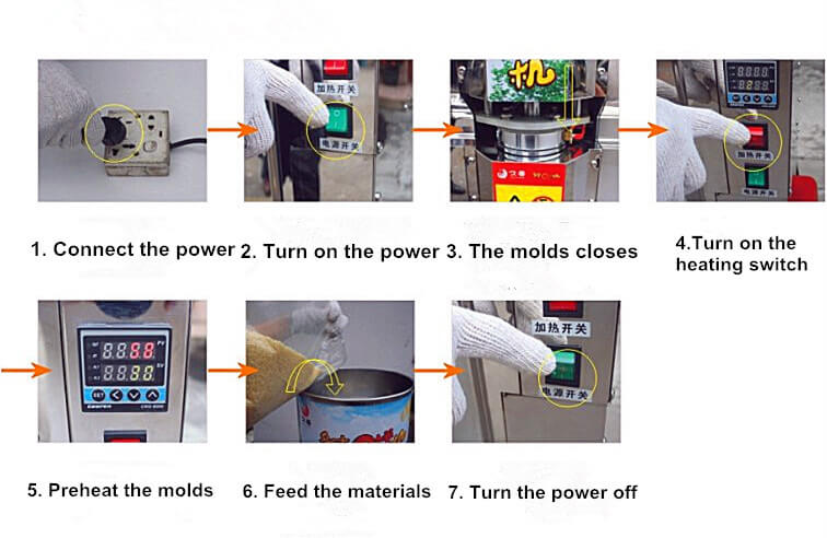 rice cake machine operating instructions