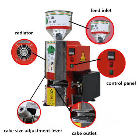 rice cake maker structure