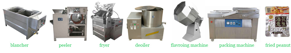 semi automatic fried peanuts making line