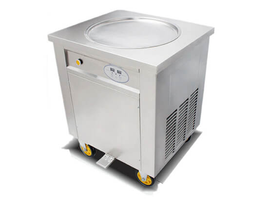 single pan fried ice cream machine for sale