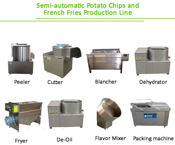 small potato fries making machines line