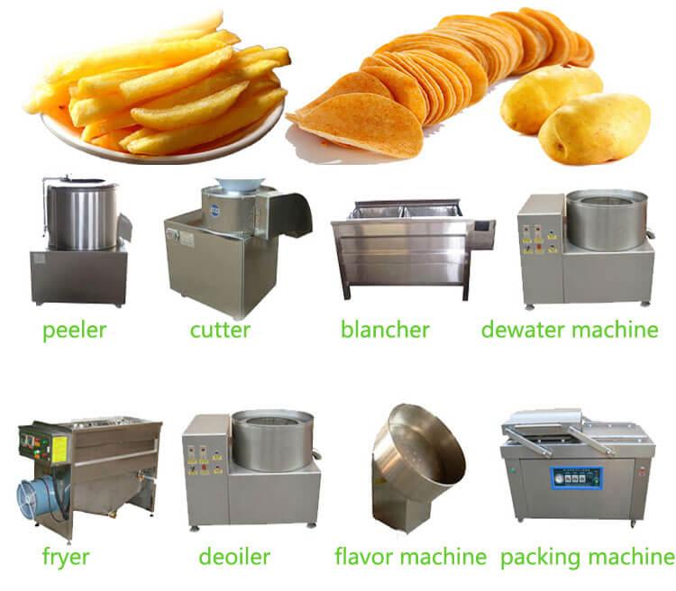 small scale potato chips machine production line