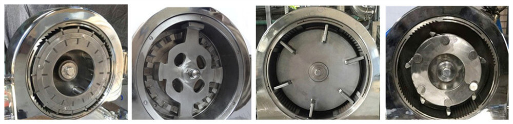 stainless steel flour milling disc of grain milling machine