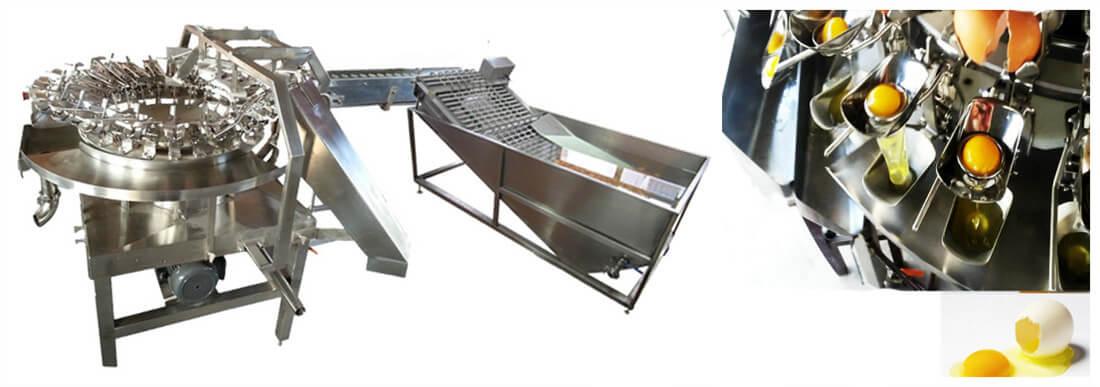 stainless steel industrial egg breaking machine
