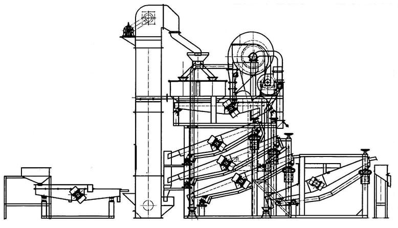 sunseeds shelling equipment structure