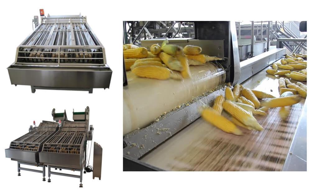 sweet corn husk peeling machine