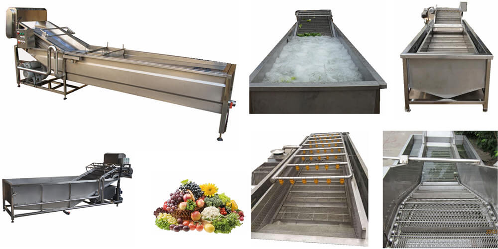 vegetable rinsing cooling machine