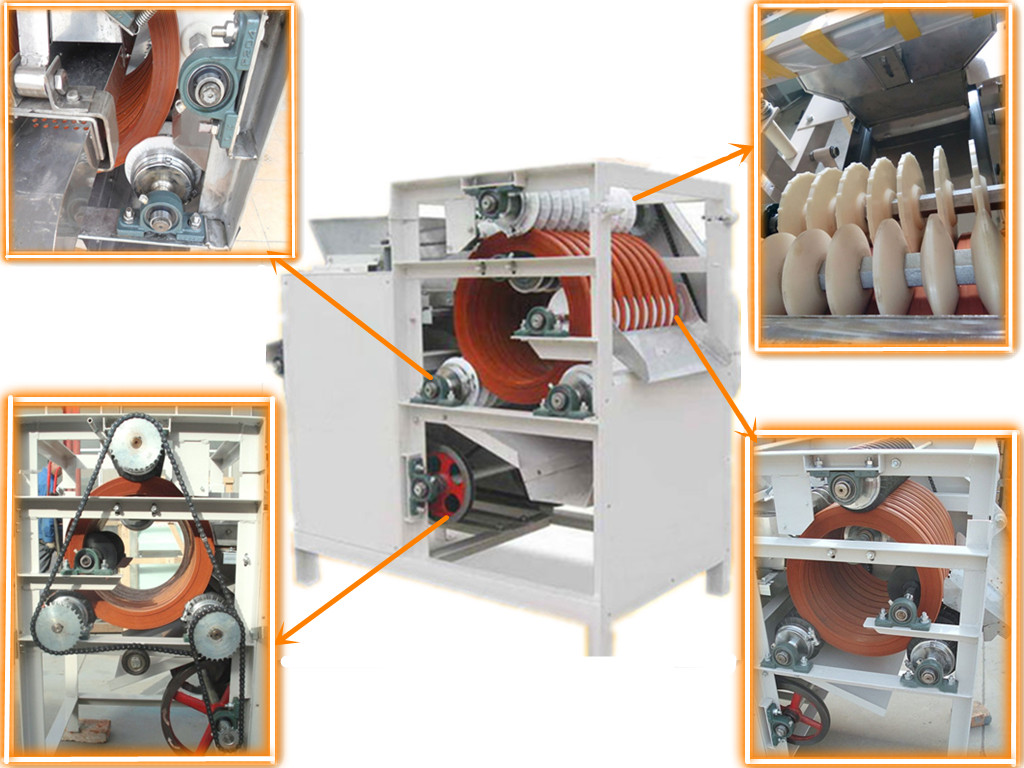 wet almond peeler machine