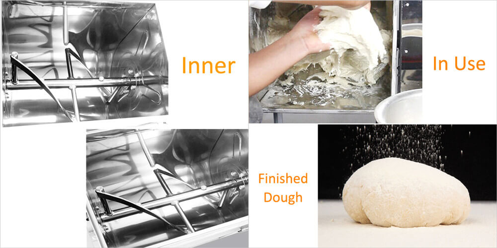 what does the dough mixing machine make dough from flour