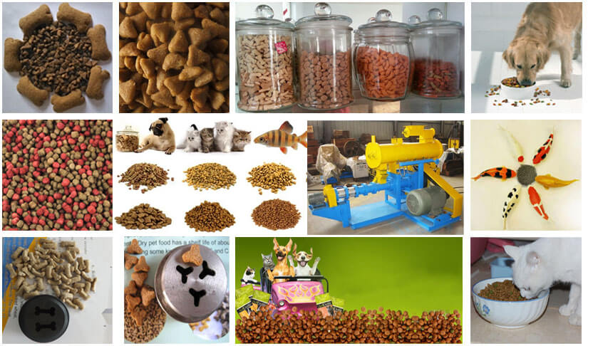 what pet food can be made by this wet type feed extruder