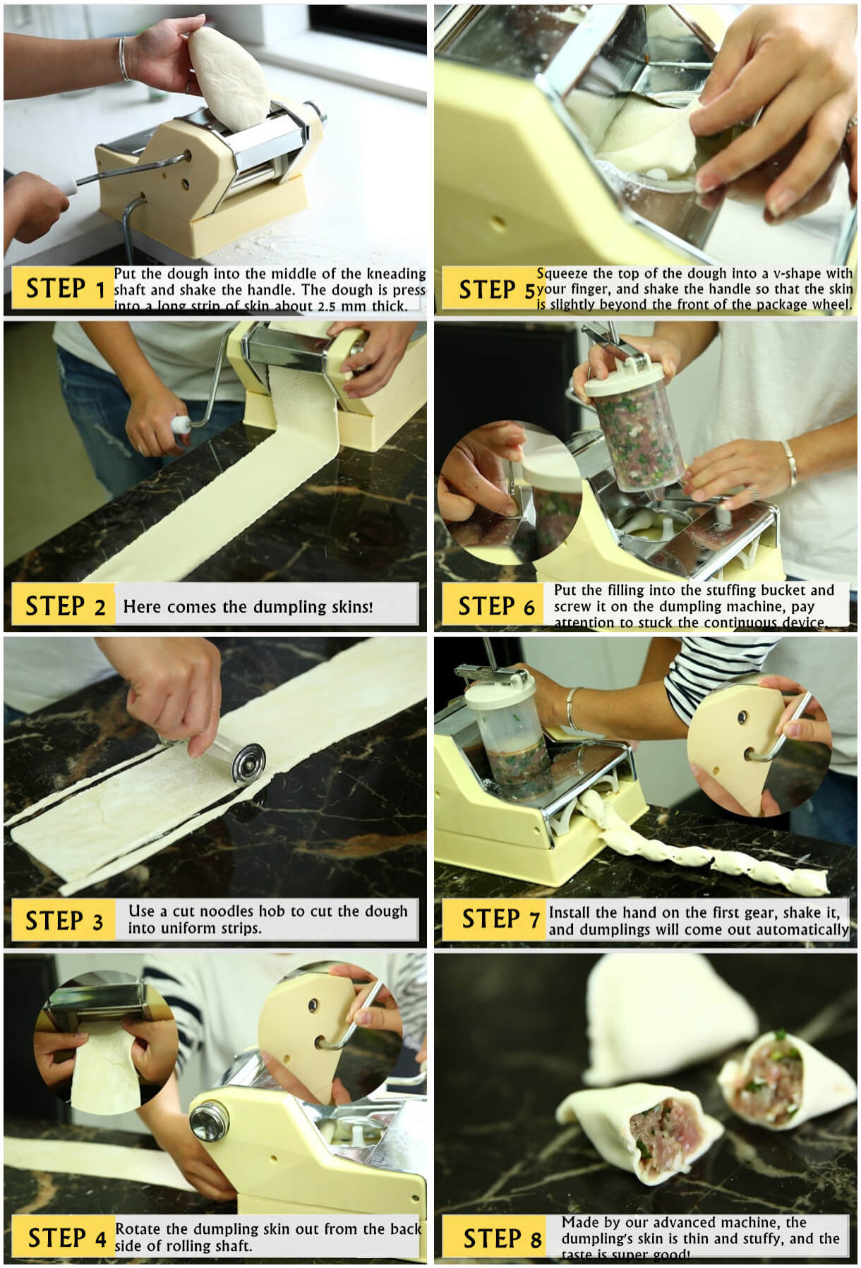 Small Dumpling Making Steps