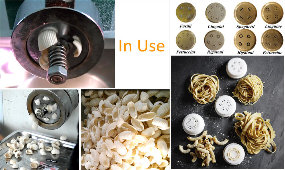 molds of pasta machine in use
