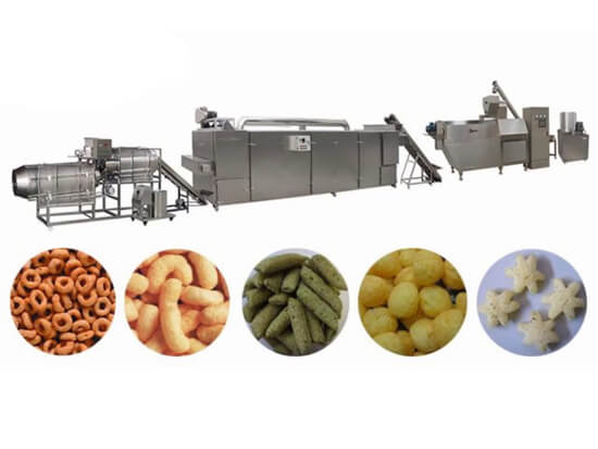 puffed snack food making line